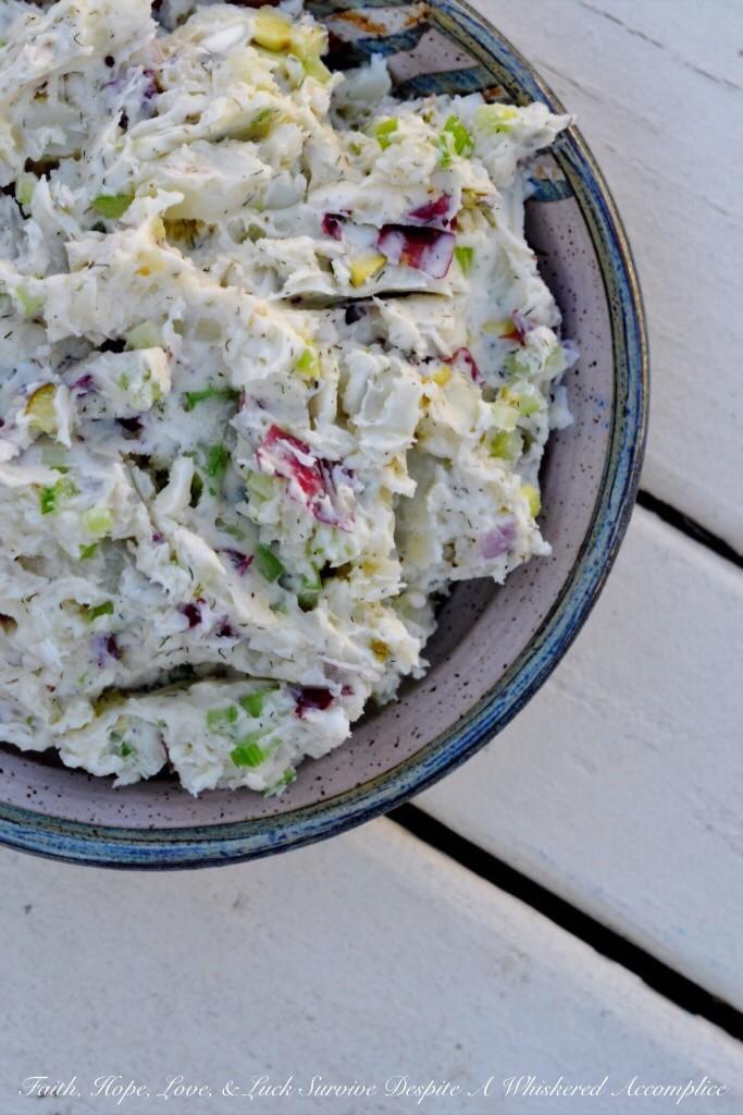 how to make mashed potatoe salad