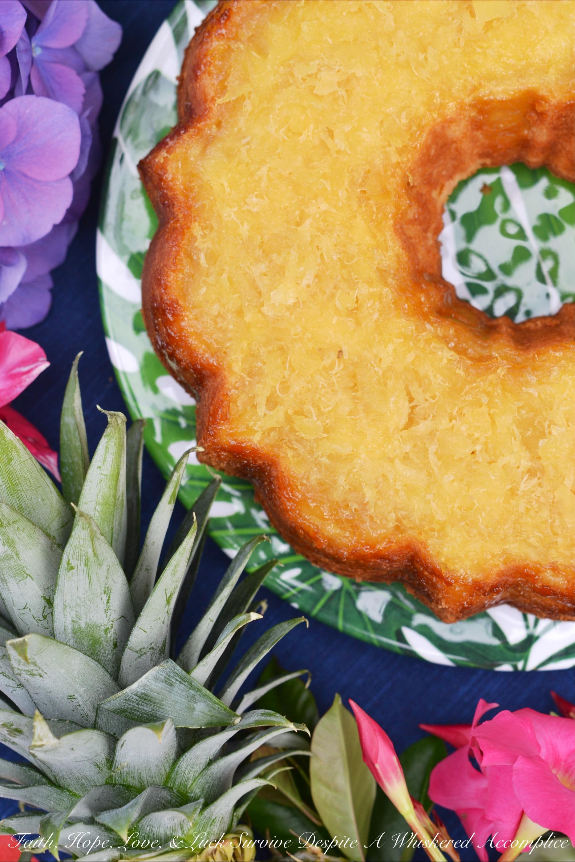 Aloha Hawaiian Pineapple Butter Cake Bundtbakers